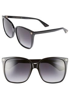 Gucci 57mm Gradient Square Sunglasses