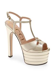 Gucci Angel Platform T-Strap Sandal (Women)