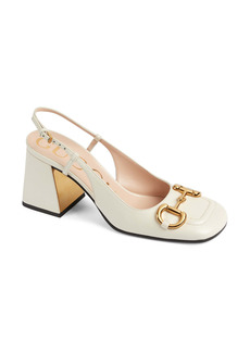 Gucci Baby Horsebit Slingback Pump (Women)
