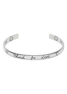 Gucci Blind for Love Cuff Bracelet