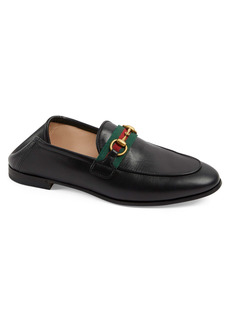 Gucci Brixton Horsebit & Web Convertible Loafer (Women)