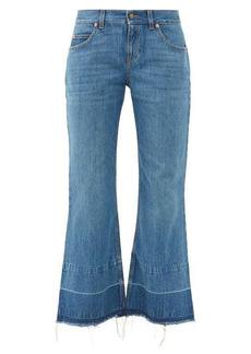 Gucci X Disney Donald Duck distressed-hem flared jeans