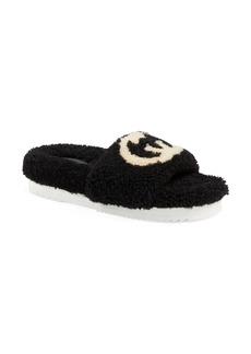 Gucci Eileen Logo Genuine Shearling Slide Sandal (Women)