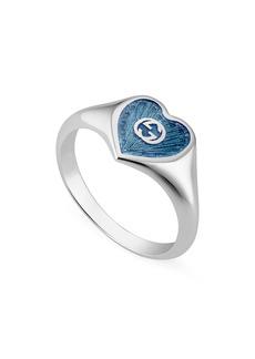 Gucci Extra Small Interlocking-G Blue Heart Ring