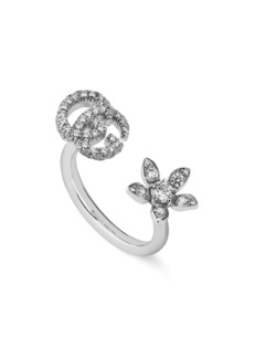 Gucci Flora Diamond Open Ring