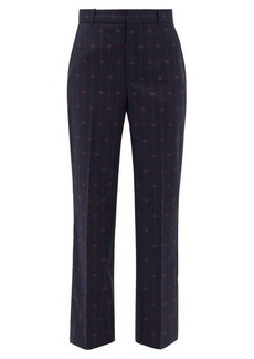 Gucci GG-jacquard wool straight-leg trousers