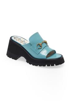 Gucci Harald Platform Slide Sandal (Women)