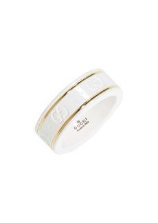 Gucci Icon White Zirconia & 18K Gold Ring