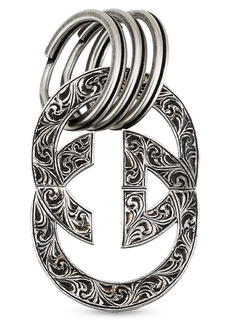 Gucci Interlocking G Sterling Silver Key Ring