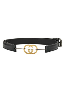 Gucci Interlocking Logo Buckle Leather Belt