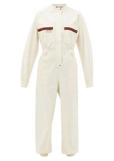 Gucci Le Rose di Eliogabalo Web-stripe cotton jumpsuit