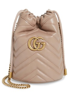 Gucci Mini Quilted Leather Bucket Bag