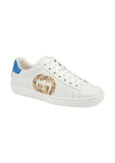 Gucci New Ace Genuine Python Logo Tennis Sneaker (Women)