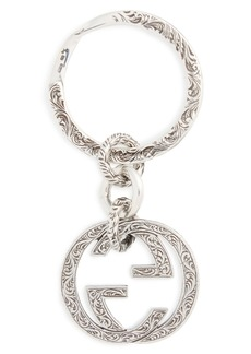 Gucci Interlocking-G Logo Sterling Silver Key Ring