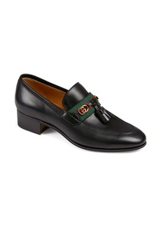 Gucci Paride Tassel Web Loafer (Women)