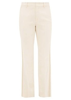 Gucci Passementerie-striped crepe trousers