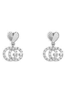 Gucci Running G Diamond Drop Earrings