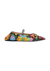 Gucci x Ken Scott Deva Floral Print Convertible Pointed Toe Flat (Women)