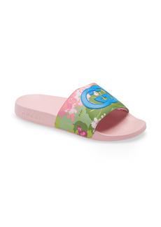 Gucci x Ken Scott Pursuit Floral Print Slide Sandal (Women)