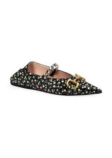 Gucci x Liberty London Deva Floral Horsebit Convertible Pointed Toe Flat (Women)
