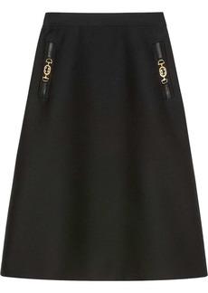 Gucci Horsebit detail A-line skirt