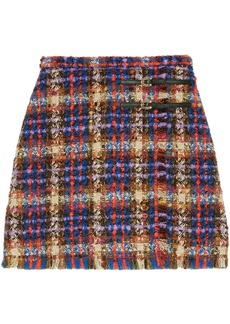 Gucci checked tweed skirt