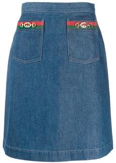 Gucci Interlocking G Horsebit motif skirt