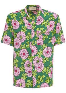 Gucci Ken Scott Print Silk Bowling Shirt