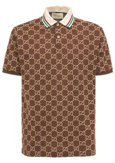 Gucci Logo Jacquard Cotton Polo