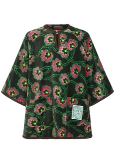 Gucci Logo Patch Print Velvet Shirt