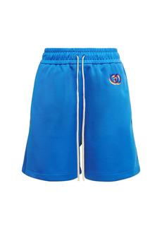Gucci Logo Techno Jersey Mini Shorts