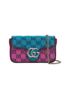 Gucci Mini Gg Matelassé Canvas Marmont Bag