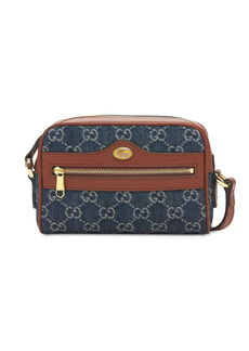 Gucci Ophidia Gg Jacquard Denim Mini Bag