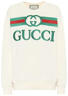 Gucci Oversized logo cotton sweatshirt