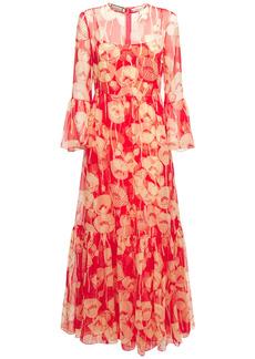 Gucci Poppy Silk Organza Dress