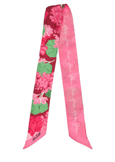 Gucci Ribbon Silk Twill Ziettina Neck Scarf