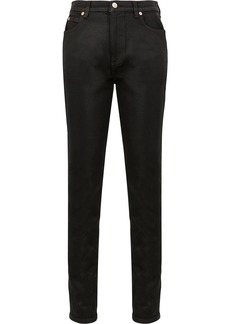 Gucci slim leather trousers