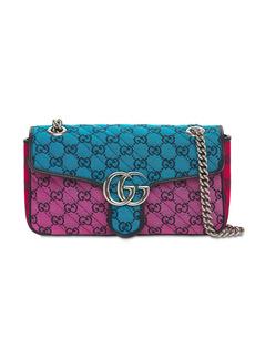 Gucci Small Gg Marmont Canvas Shoulder Bag