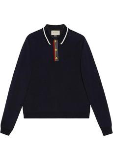 Gucci stripe-detail polo shirt