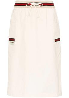 Gucci Web stripe-detail skirt