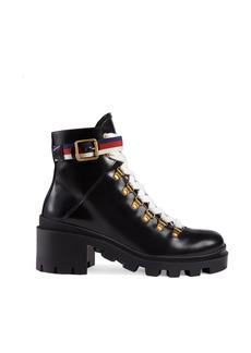 Women's Gucci Trip Lug Sole Combat Boot