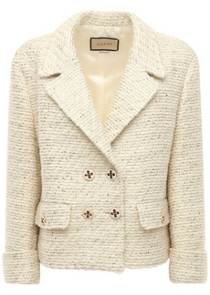Gucci Wool Blend Bouclé Jacket W/ Flap Pockets