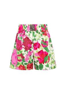 Gucci x Ken Scott floral stretch-silk shorts