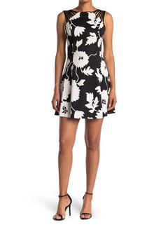 GUESS Contrast Floral Strappy Dress