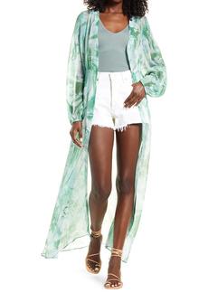 GUESS Bre Long Sleeve Maxi Dress