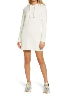 GUESS Kira Ribbed Long Sleeve Hoodie Dress
