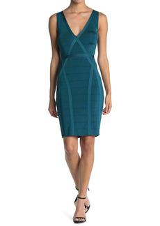 GUESS Sleeveless V-Neck Bandage Dress