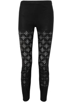 Haider Ackermann Woman Laser-cut Leather Slim-leg Pants Black