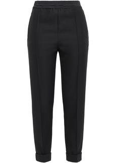 Haider Ackermann Woman Cropped Satin-trimmed Wool Slim-leg Pants Black