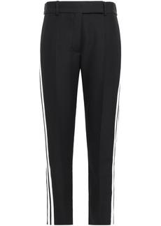 Haider Ackermann Woman Grosgrain-trimmed Wool Slim-leg Pants Black